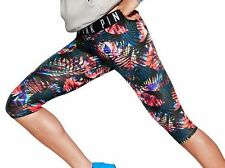 Victoria Secret PINK Ultimate Multi Palm Ultimate Extreme Crop Leggings Logo L
