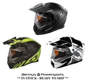 Castle X CX950 Helmet Dual Sport Modular Electric Shield w Internal Sun Shade