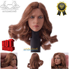1/6 Head Sculpt for Hot Toys Phicen Kumik Female Body Custom Black Widow 5.0