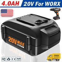NEW for WORX WA3520 20V Li-ion Battery WA3525 WA3575 WA3512 WG151 RW9161 4000mAH