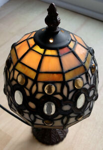 """Tiffany Style Handmade Stained Glass 12"""" Table Lamp"""
