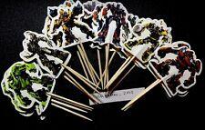 12 X Transformers Cake Picks/Cupcake Toppers Kids Birthday Decoration Boys #4578