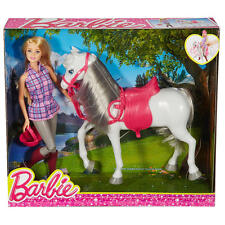 Barbie Perfectly Pink Doll and White Horse Playset