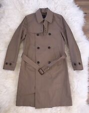 JCrew $298 Ludlow Double-Breasted Water-Repellent Trench Coat XS Raw Umber F4513
