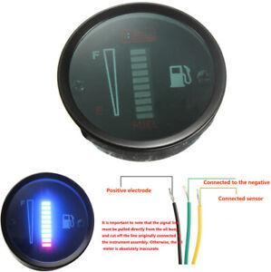 """2"""" 52mm Fuel Gauge 10 LED Fuel Level Meter For 12V Motorcycle Car SUV Modified"""