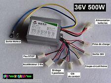Variateur controleur 36V 500W p. quad trottinette scooter moto vélo électrique