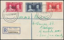 COOK ISLANDS 1937 REGISTERED CORONATION COVER FDC (ID:147/D3572)