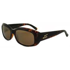 Gafas de sol de mujer marrón rectangular de plástico