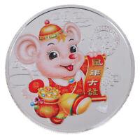 2020 Jahr der Ratte Gedenkmünze Chinesisches Sternzeichen Andenkenmünze Geschenk