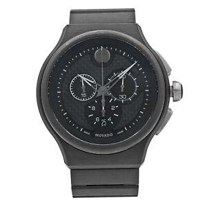 Movado Parlee Carbon Fiber Sticks Dial Titanium Peek Quartz Mens Watch 0606929