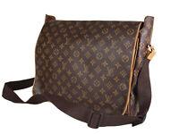 LOUIS VUITTON Abbesses Monogram Canvas Leather Crossbody Shoulder Bag LS3525