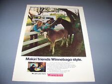 "VINTAGE..1973 WINNEBAGO BRAVE ""HORSES""..ORIGINAL COLOR SALES AD...RARE! (399F)"