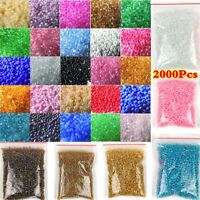 2000pcs Lots 2mm Glass Beads Seed Pearls Round Spacer For Jewelry Making DIY