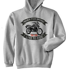 YAMAHA TDR 250 - NEW  GREY HOODIE - ALL SIZES IN STOCK