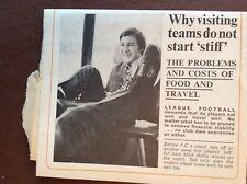 g1p ephemera 1970 football article coach travel barrow f c mick hollis