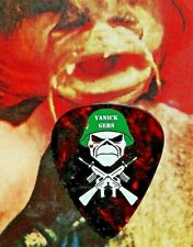 IRON MAIDEN Yanick Gers (misspelled name) FLAWED tort guitar pick