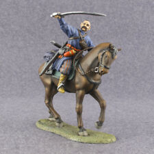 Metal Toy Soldiers Painted Mounted Cossack 1/32 scale Rider on Horse