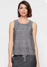 NWT Eileen Fisher Ash Organic cotton Aerial Ikat Short Shell Sz PM $148