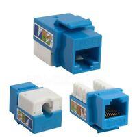 100 Pack 100x Cat6 Network Keystone Jack Punch Type RJ45 8P8C - Blue
