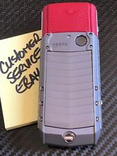 Genuine Vertu Ascent X Full Titanium RED Leather Luxury Phone Extremely Rare NEW
