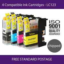 4 Compatible Ink Cartridges to Replace Epson LC123 Chipped