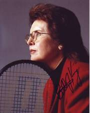 Billie Jean King Signed Autographed 8x10 Tennis Photograph