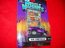 MUSCLE MACHINES CO2-05 '69 CHEVELLE PURPLE CARTOONS MIP FREE USA SHIPPING