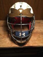 cascade Sports lacrosse helmet Cpx White Chrome Gold Small Medium Adult Ua