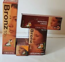 4 x BRONZ TONE COCOA BUTTER & HONEY EXTRACTS LOTION,SOAP,TUBE & B.S.C CREAM 4 pc