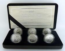 Royal Mint 2007 Silver Proof 20th Anniversary Britannia 6 Coin Set