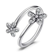 0.2Ct Round Cut VVS1/D Diamond Engagement Ring Two Flowers 14k White Gold Over