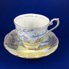 Royal Albert Handpainted Scenic Garden Gate Rosedale Tea Cup and Saucer Set