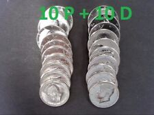 2018 KENNEDY HALF DOLLAR ROLL - 10 P & 10 D GEM BU FROM US MINT - IN TUBE