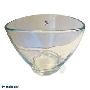 Oval Glass Vase / Bowl. 19 X 14 X 15 Cm