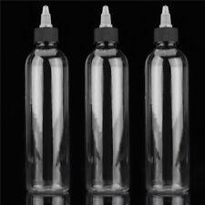 3PCS 250ml Twist Cap Empty Plastic Tattoo Ink Pigment Bottle Supply Accessories
