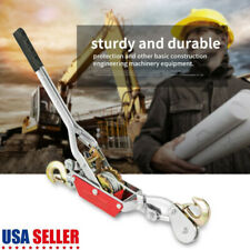 2 Ton Hand Power Wired Cable Puller Winch Double Hook Lift Tool Heavy Duty New