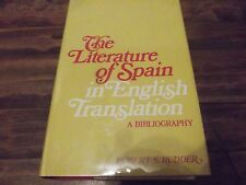 The Literature of Spain in English Translation : A Bibliography (1975,...