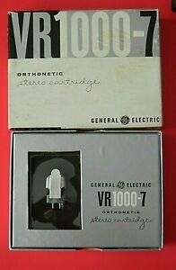 Vintage General Electric VR1000-7 Stereo Cartridge Orthonetic .7 Mil Diamond NOS
