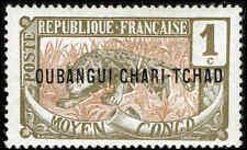 Scott # 1 - 1915 - ' Leopard ', Ovptd. OUBANGI-CHARI-TCHAD