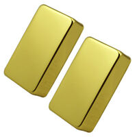 2pcs Gold Sealed Brass Humbucker Pickup Cover for Electric Guitar Bass Parts