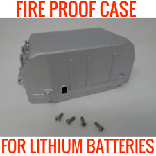 FIRE PROOF METAL CASE FOR LITHIUM ION 18650 BATTERIES HOLDS 17 CELLS 24V 36V 48V