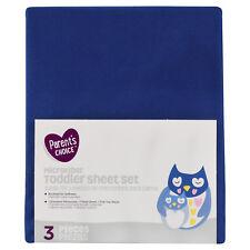 Parent's Choice 3 Piece Toddler Sheet Set,BLUE