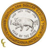 Sam Boyd's $10 Las Vegas NV Casino Token Year of the Boar Fine Silver 999