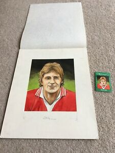 1978 Original Artwork Steve Coppell Manchester Utd FC used by Cornish Match Co