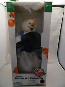 Gemmy Snowflake Spinning Snowman Snow Miser Animated Tested Works