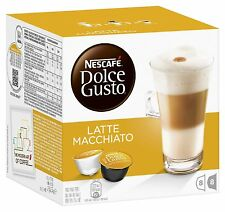 Dolce Gusto Latte Machiato Coffee (6 Boxes,Total 96 Capsules ) 48 Servings