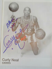 Curly Neal Autographed Photo Harlem Globetrotters