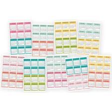 Carpe Diem A5 Planner - REDUCED Stickers Mini Calendar Jul 17- Dec 18
