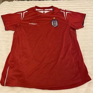 Official Umbro Ladies England Away Football Shirt 2004 - 2006 Vintage Size 12