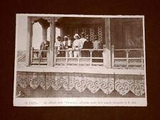 Pechino nel 1899 Gli Ufficiali del Piemonte presso Tempio dei Lama Pagoda Cina
